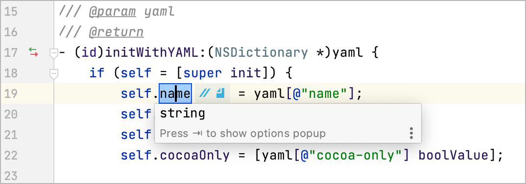 The in-place rename refactoring
