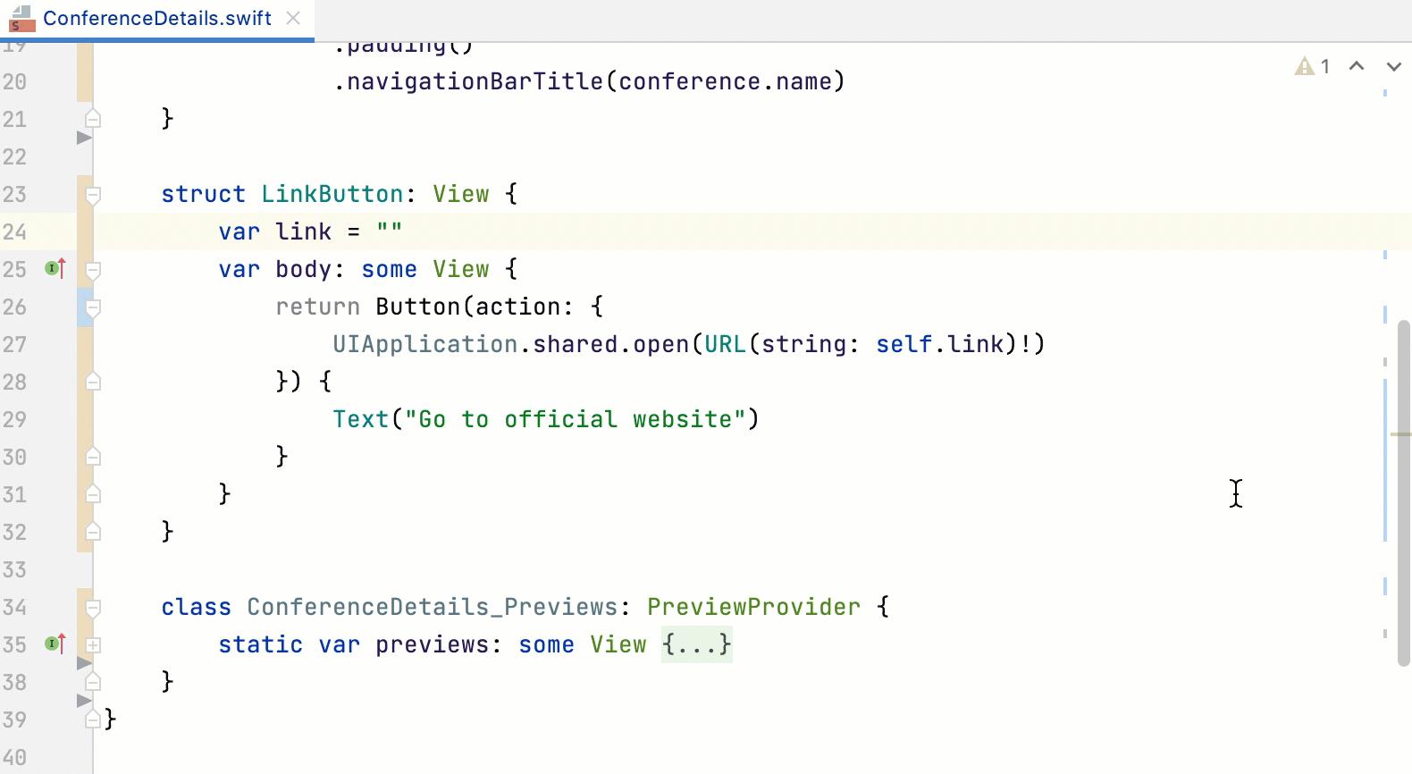 Fixing error