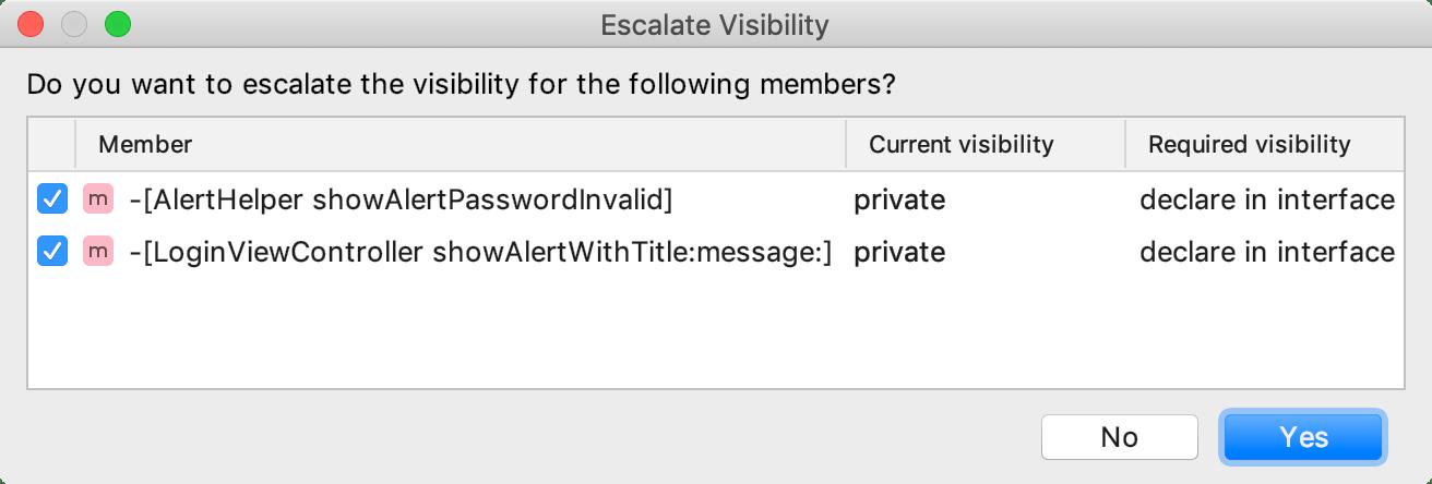 Escalate visibility
