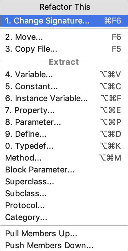 Objective-C refactorings