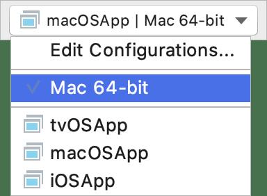 Running a macOS application