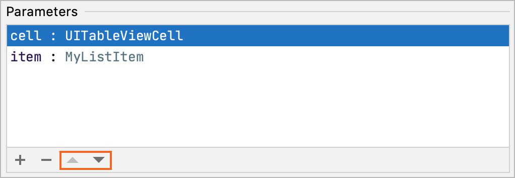 Swap the method parameters