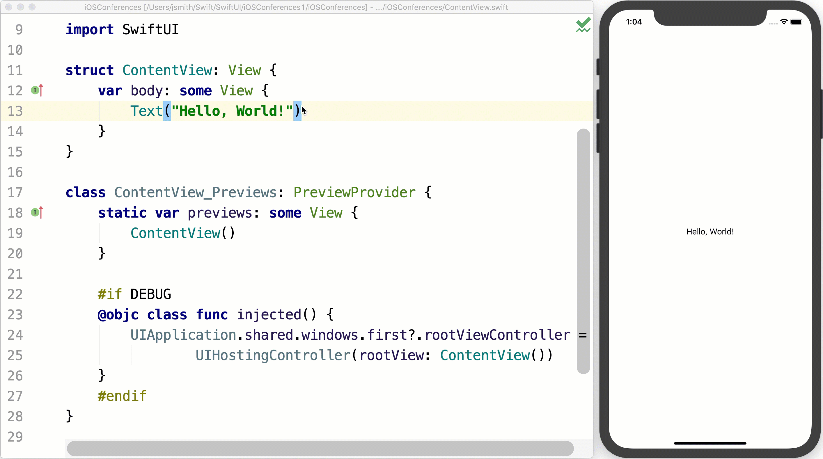 SwiftUI preview