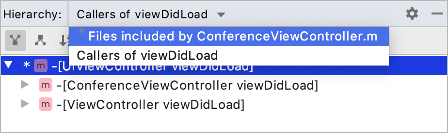 Switching between pinned tabs in the Hierarchy tool window