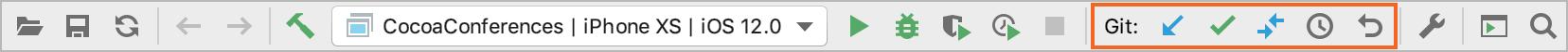 VCS toolbar