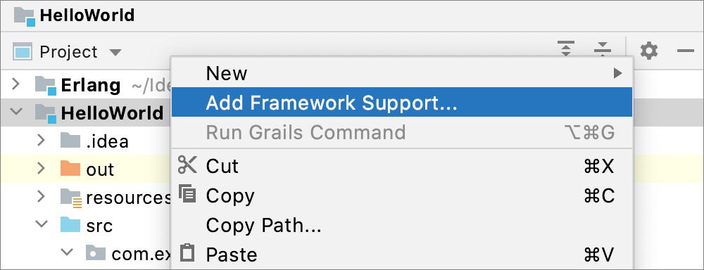 Adding a framework support