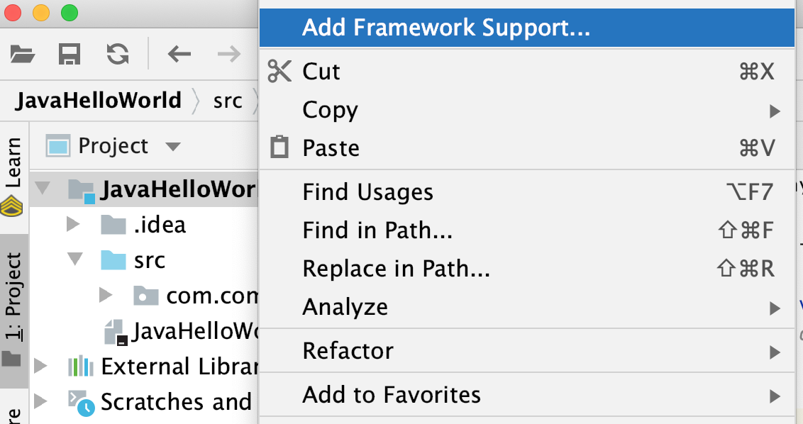 Add Framework Support