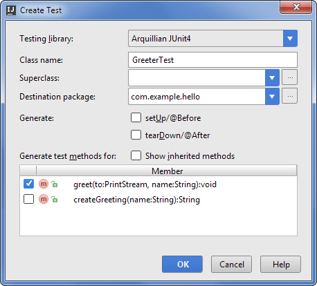 Arq10dialog create test