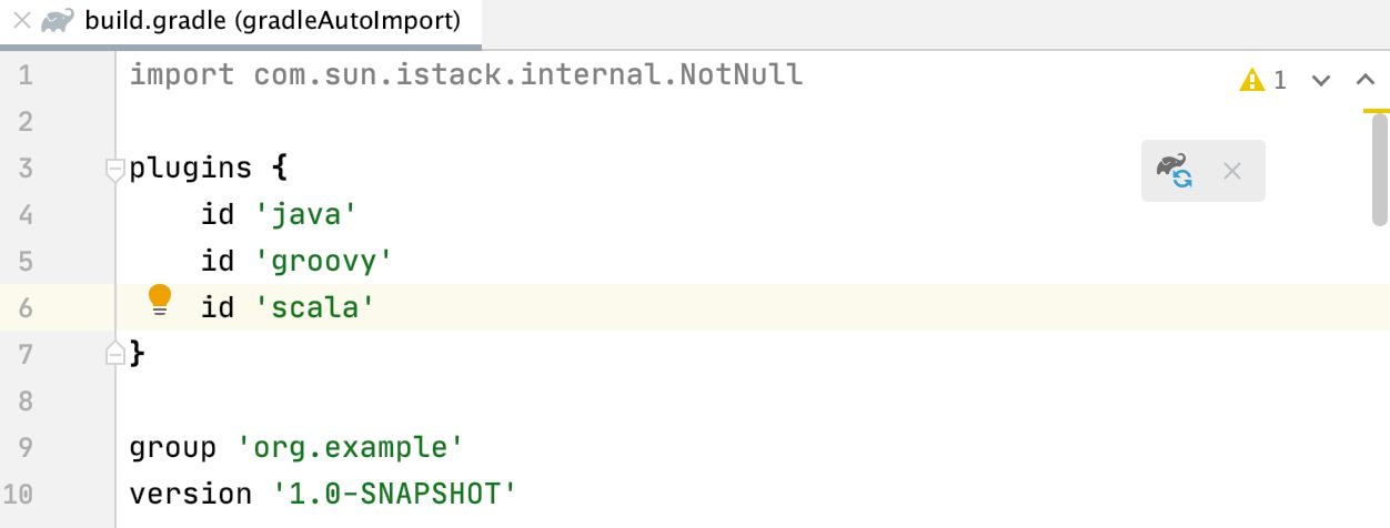 Editor: build.gradle