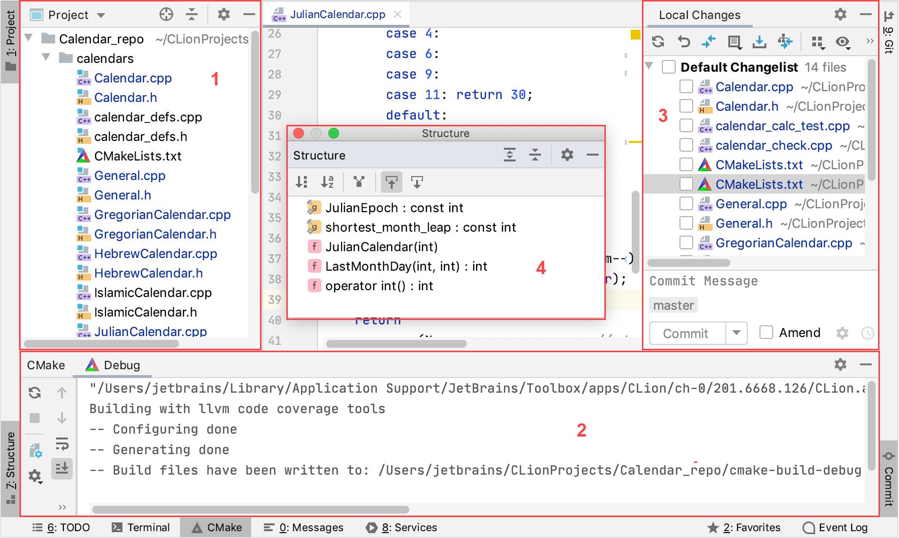Tool windows examples
