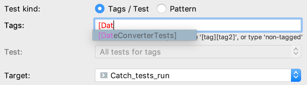 auto-completion in configuration fields