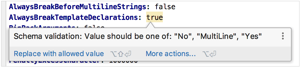 validating option values