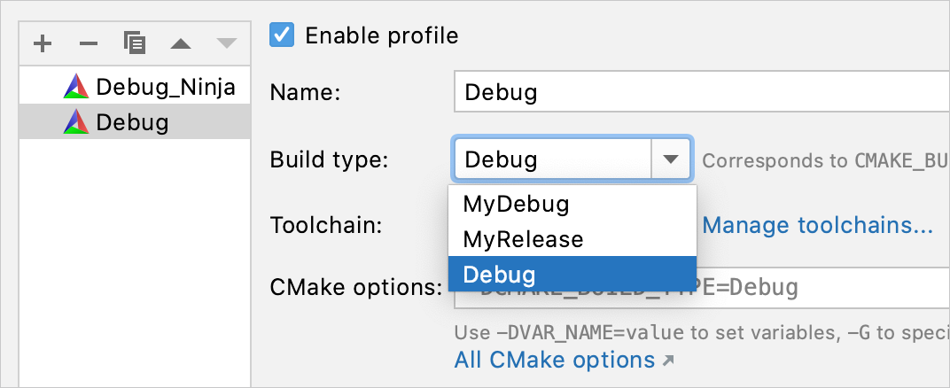 custom build types