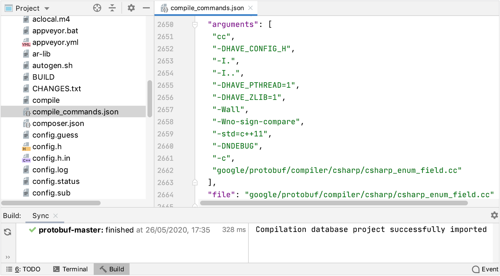 Compilation database project