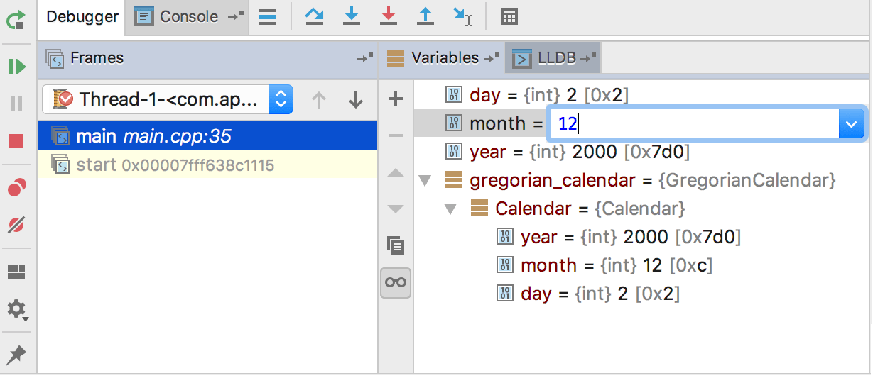 Enter new value for the variable in the field right next to its name