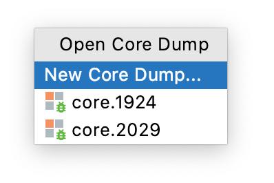 The Open Core Dump popup