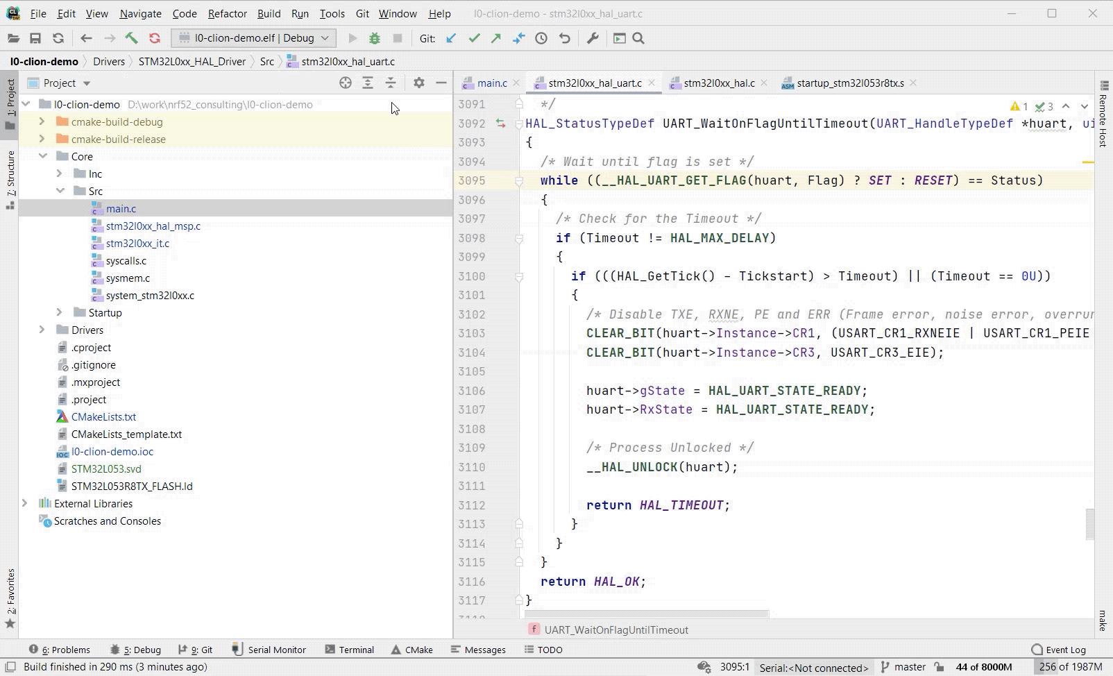 Debugging an Embedded GDB Server configuration