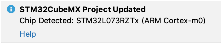 project update after changes in cubemx