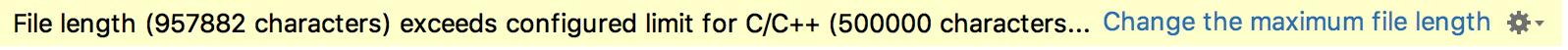 Maximum file length pop-up