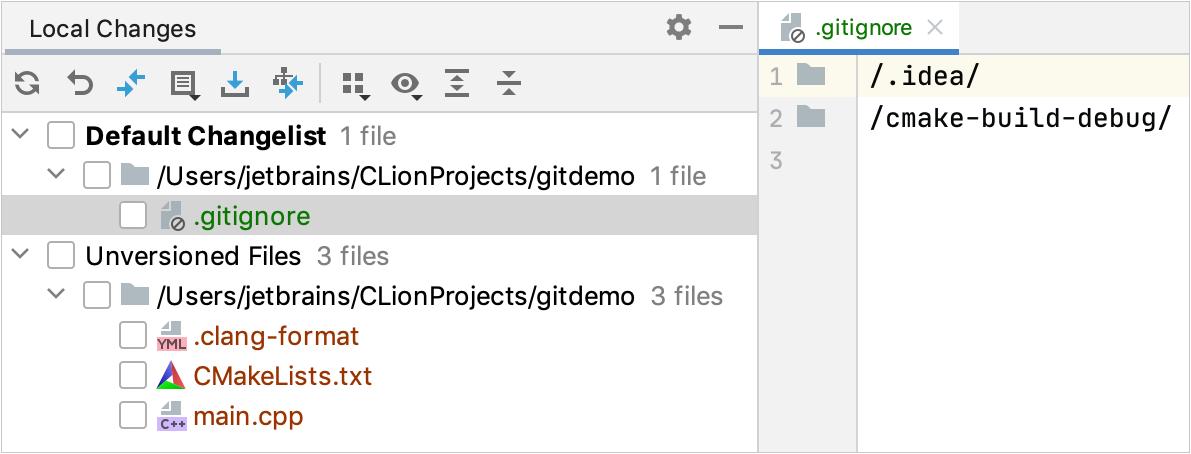 .gitignore added to Git