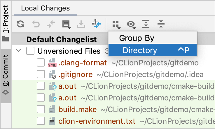 Group by directory