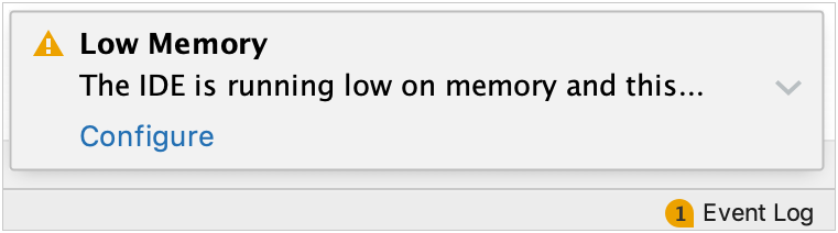 low memory warning message