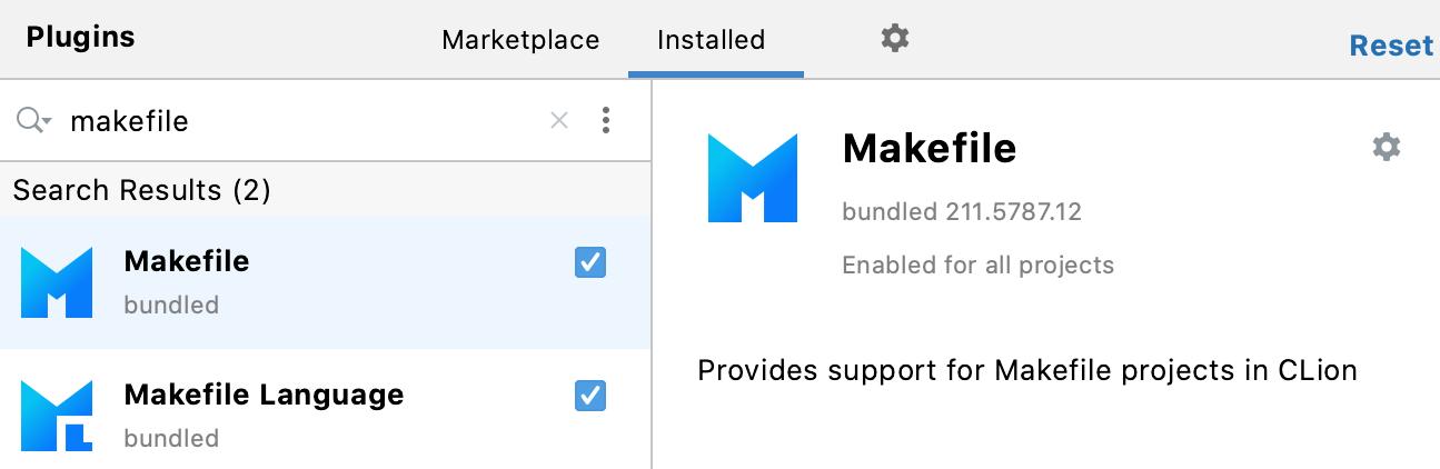 Makefile support plugins