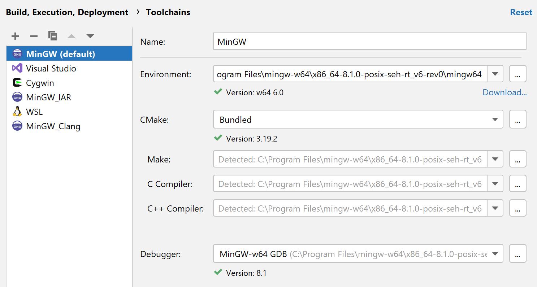 MinWG-w64 toolchain