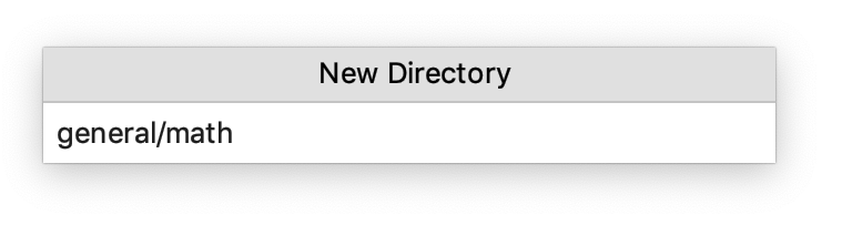 Creating a new nested directory