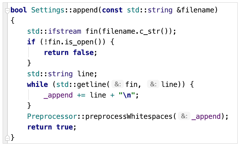 parameter hints for non-const references
