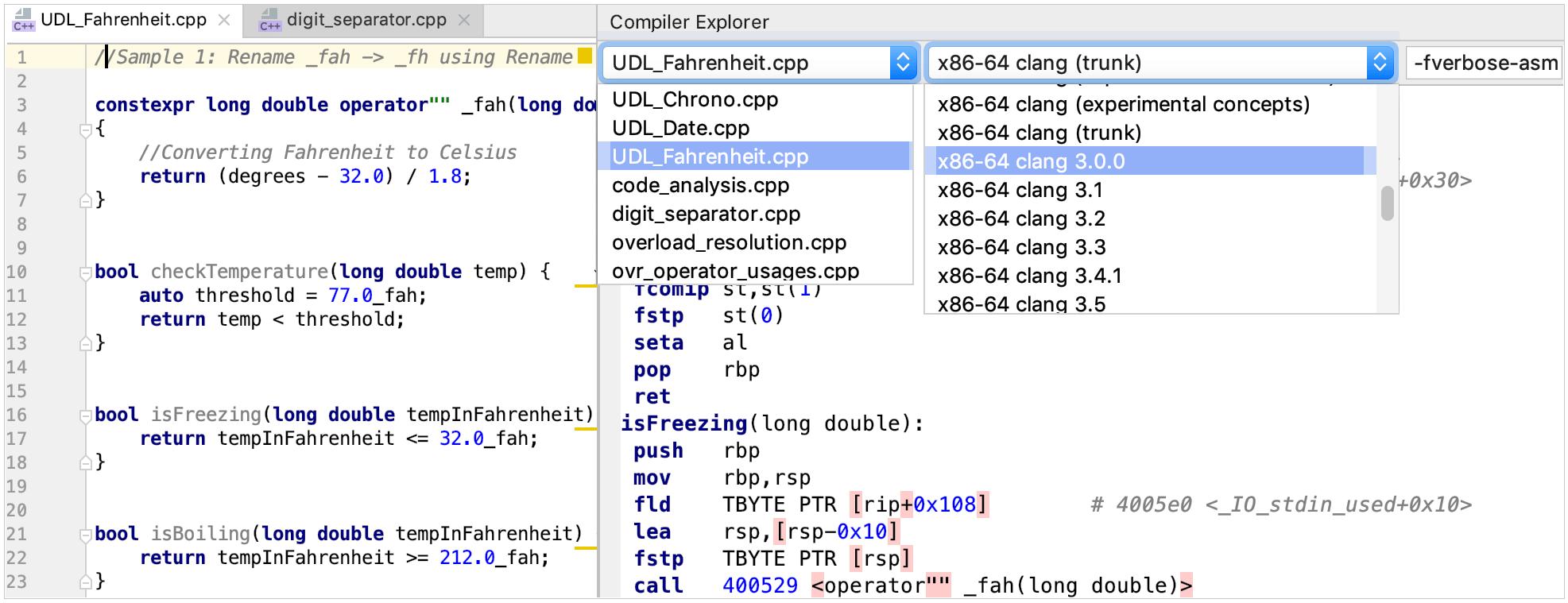 compiler explorer plugin