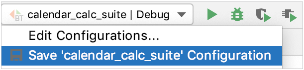 Saving a temporary configuration using the configuration switcher