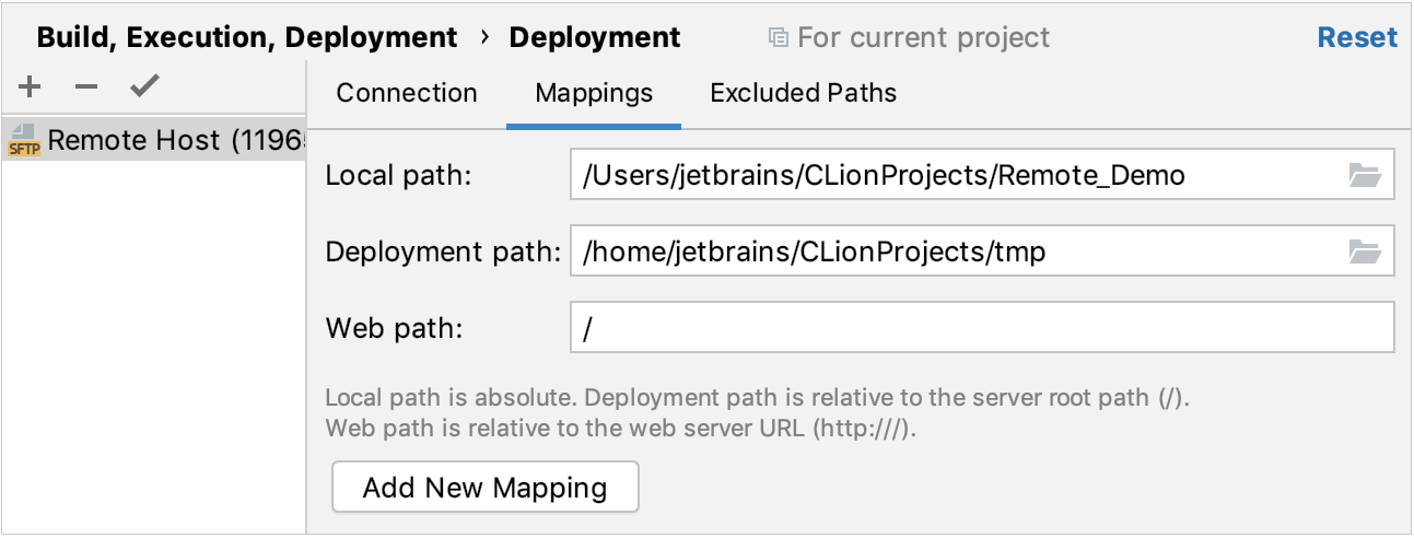 path mapping for file synchronization