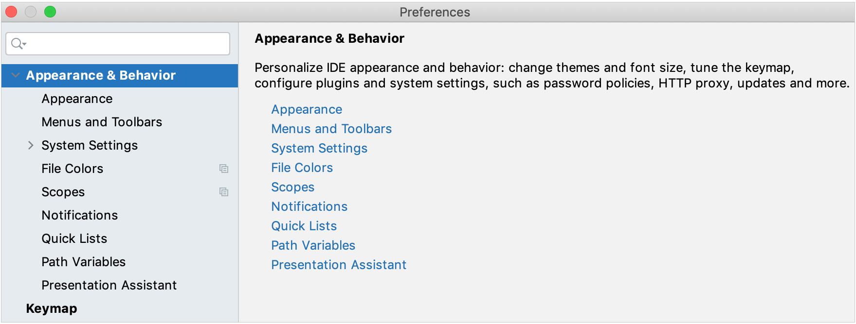 Appearance and Behavior