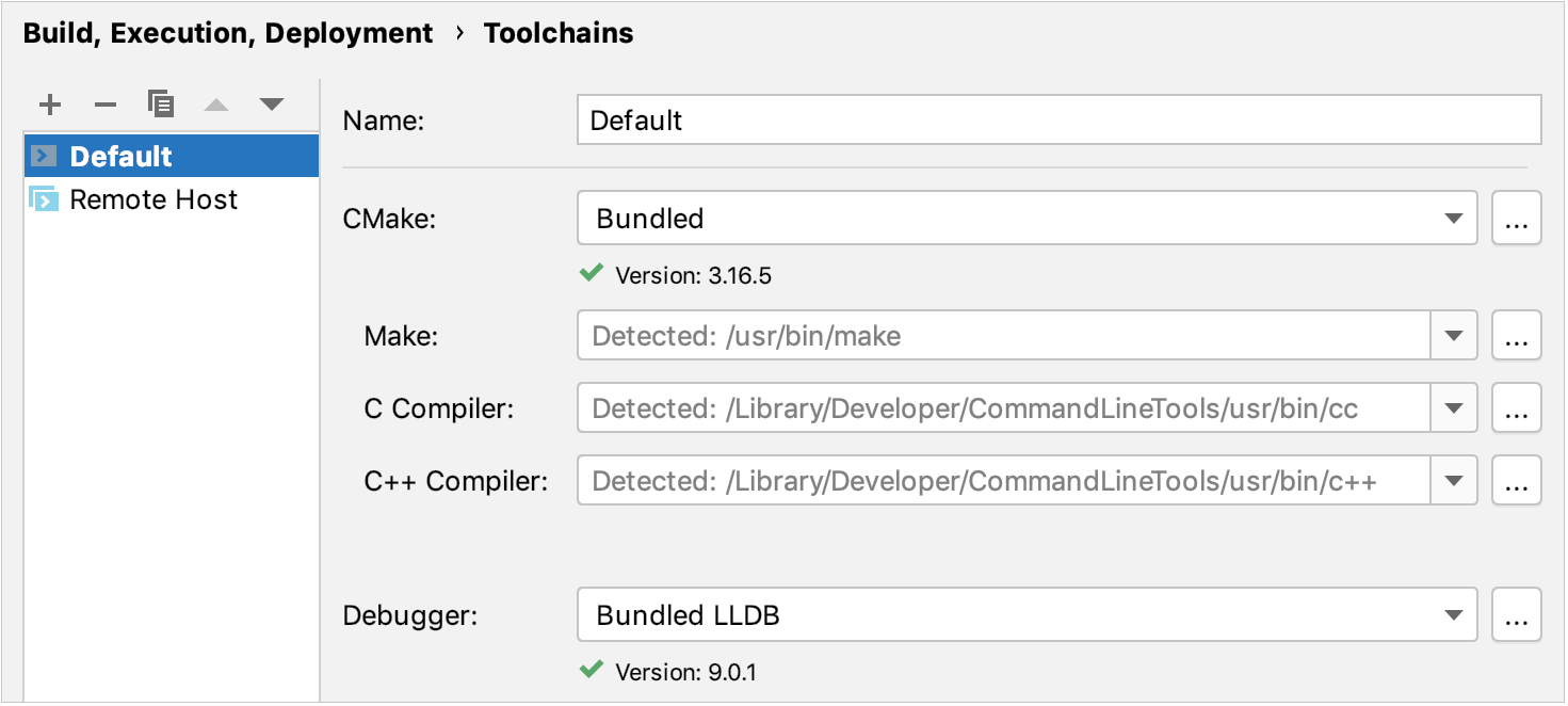 Creating a new toolchain on macOS/Linux