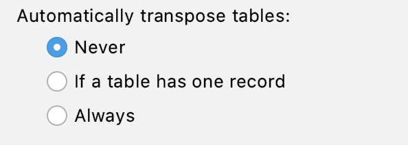 automatic table transposing