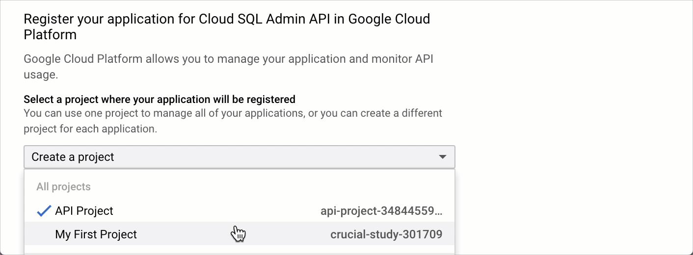 Cloud SQL Admin API