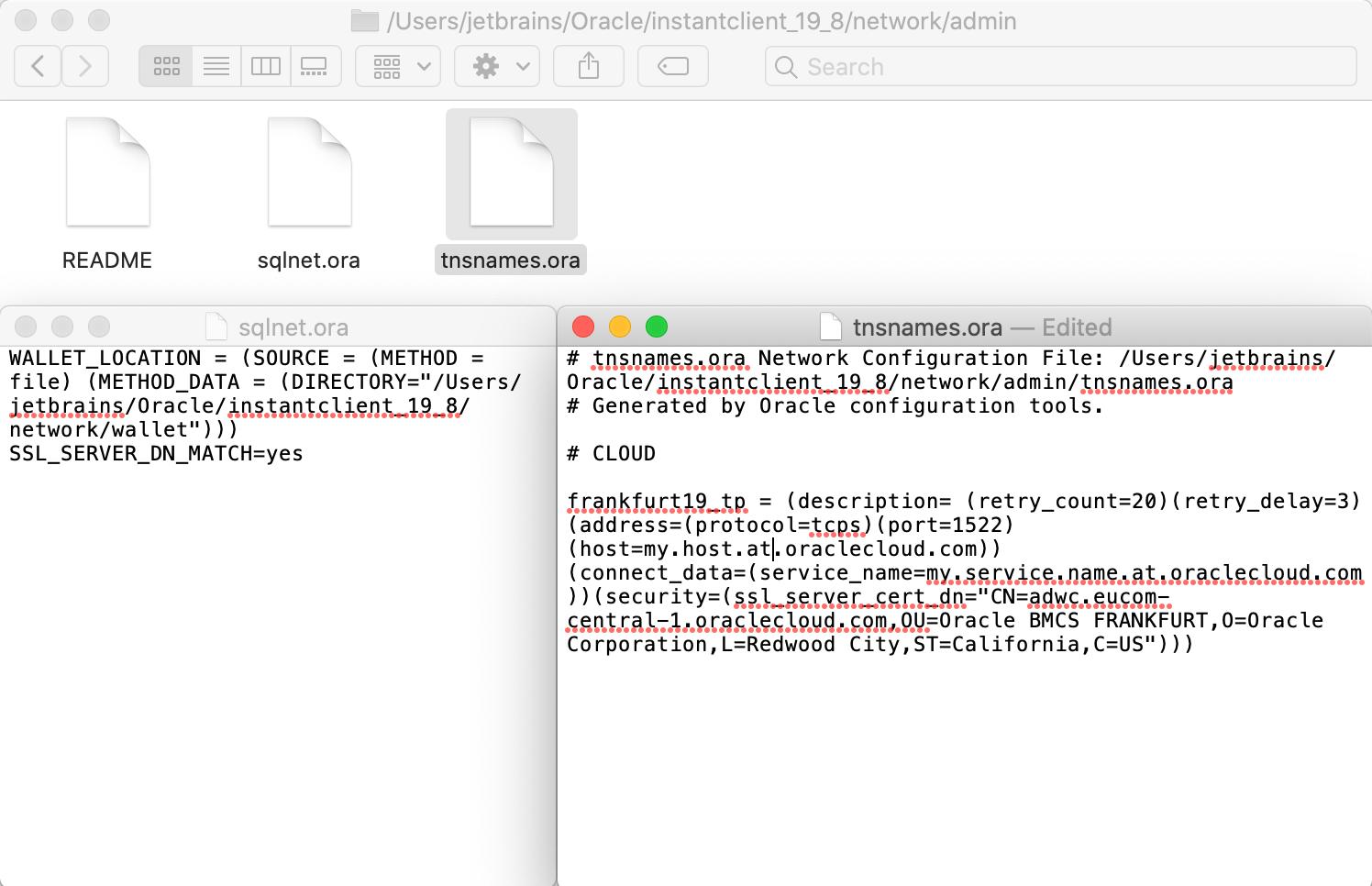 Configuring TNS files