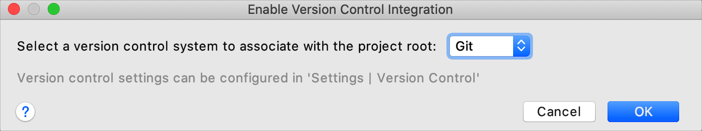 Enable version control integration