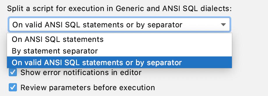 Split a script for execution