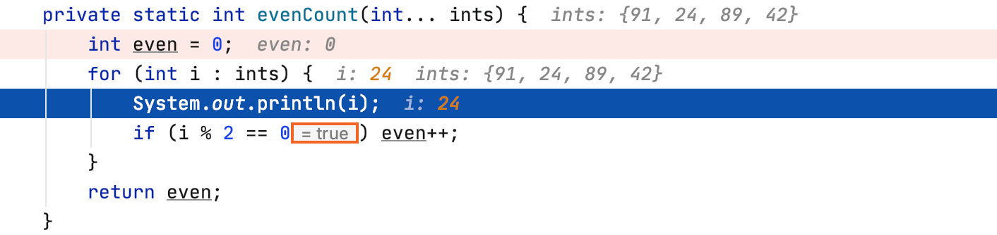 A hint showing the result of a future boolean condition