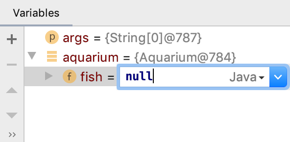 Setting the reference to null