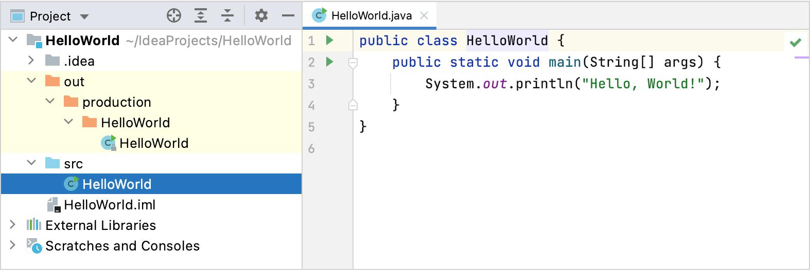 Sample Java application project