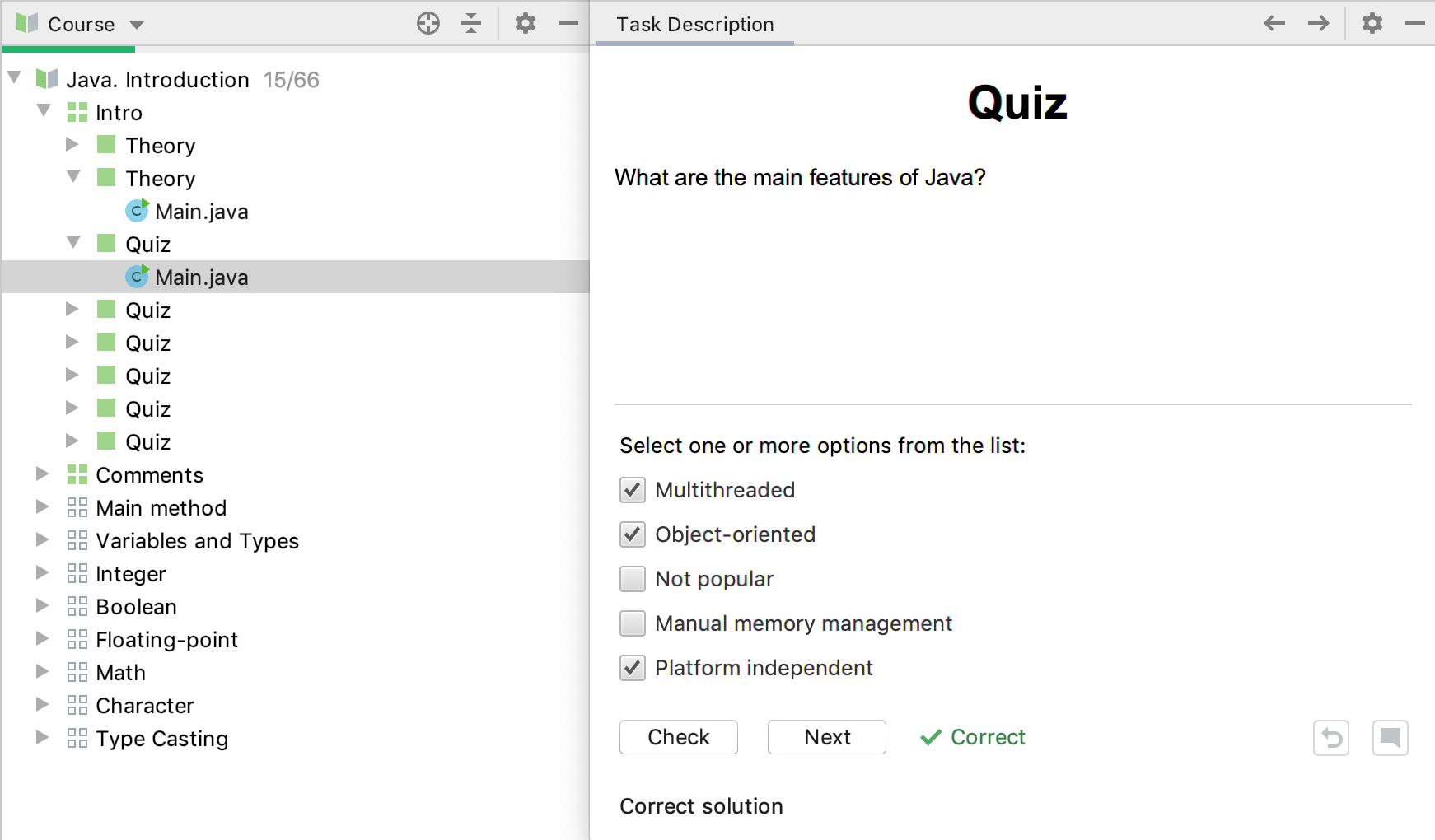 Edu quiz check java intro
