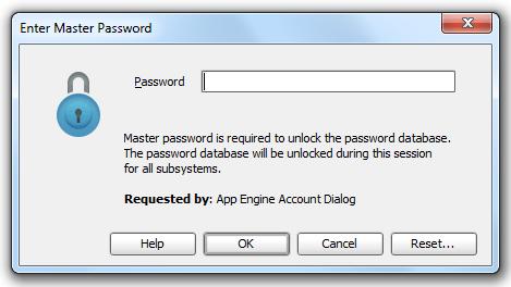 Gae password