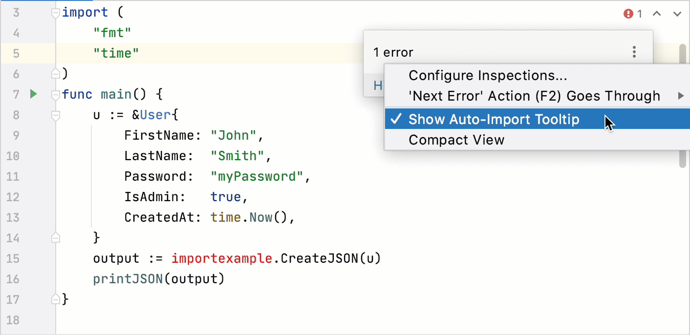 Autoimport with popups disabled