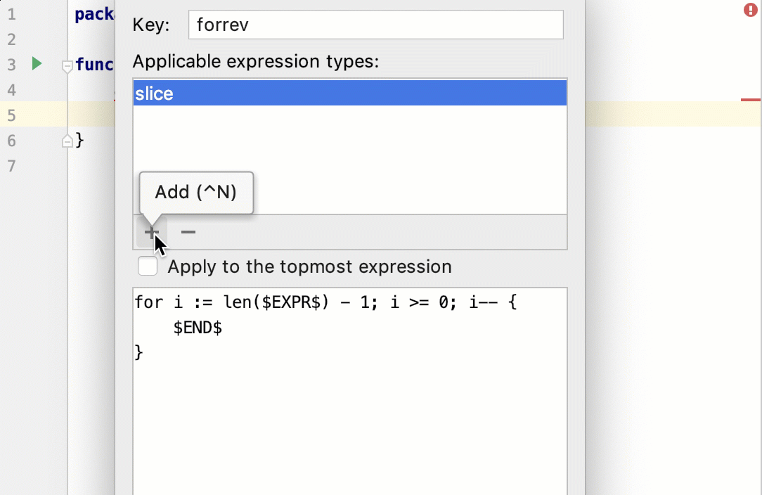 Create a custom postfix template