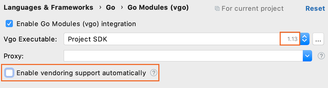 Automatic vendoring mode in Go 1.13 and earlier versions