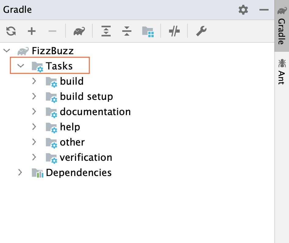 Gradle tool window