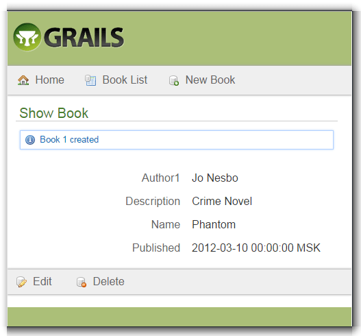 Grails run app output